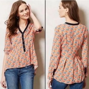Anthropologie Vanessa Virginia Honore Tiger Shirt